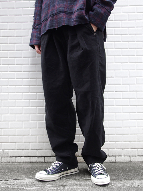"JieDa(ジエダ)  ""TUCK KERSEY PANTS"" <ワイドパンツ>"