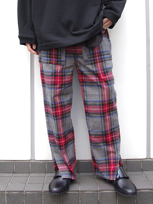 "JieDa(ジエダ)  ""SIDE SLIT FLANNEL EASY PANTS"" <イージーパンツ>"