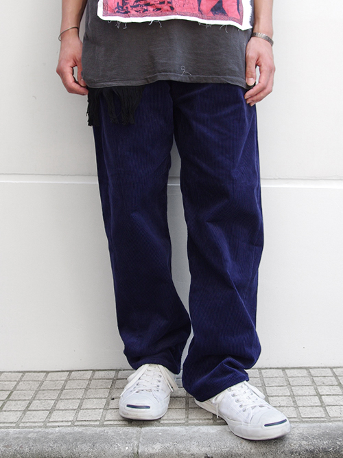 "JieDa(ジエダ)  ""BAGGY CORDUROY PANTS"" <バギーパンツ> - NAVY"