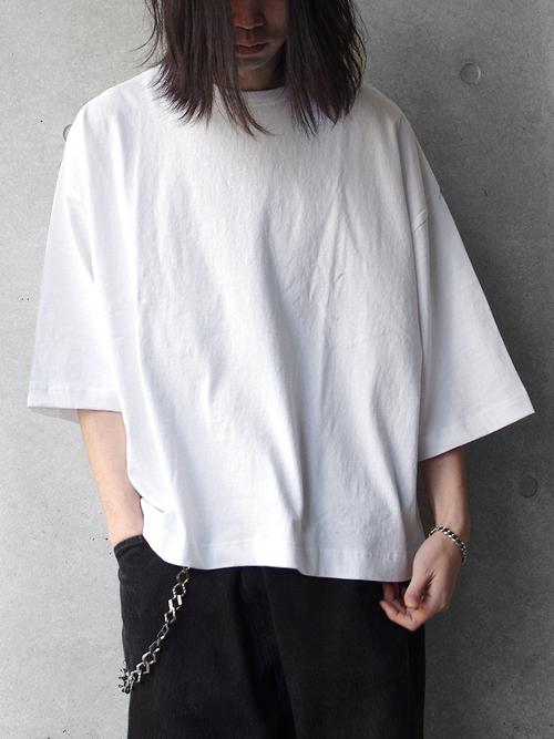"JieDa(ジエダ)  ""BIG TEE FRUIT OF THE LOOM"" <Tシャツ/カットソー> - WHITE"
