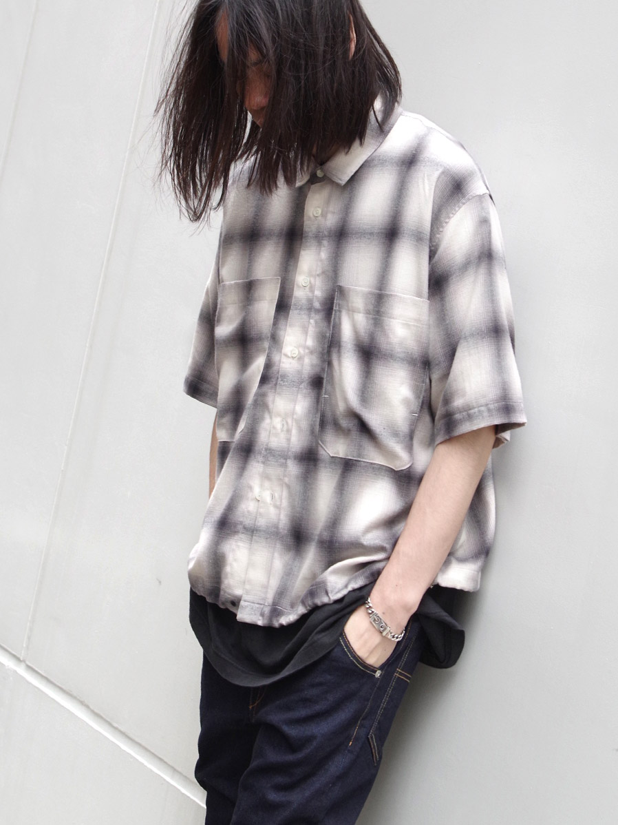 "JieDa(ジエダ)  ""CHECK DRAW CODE SHIRT"" <シャツ> - WHITE"