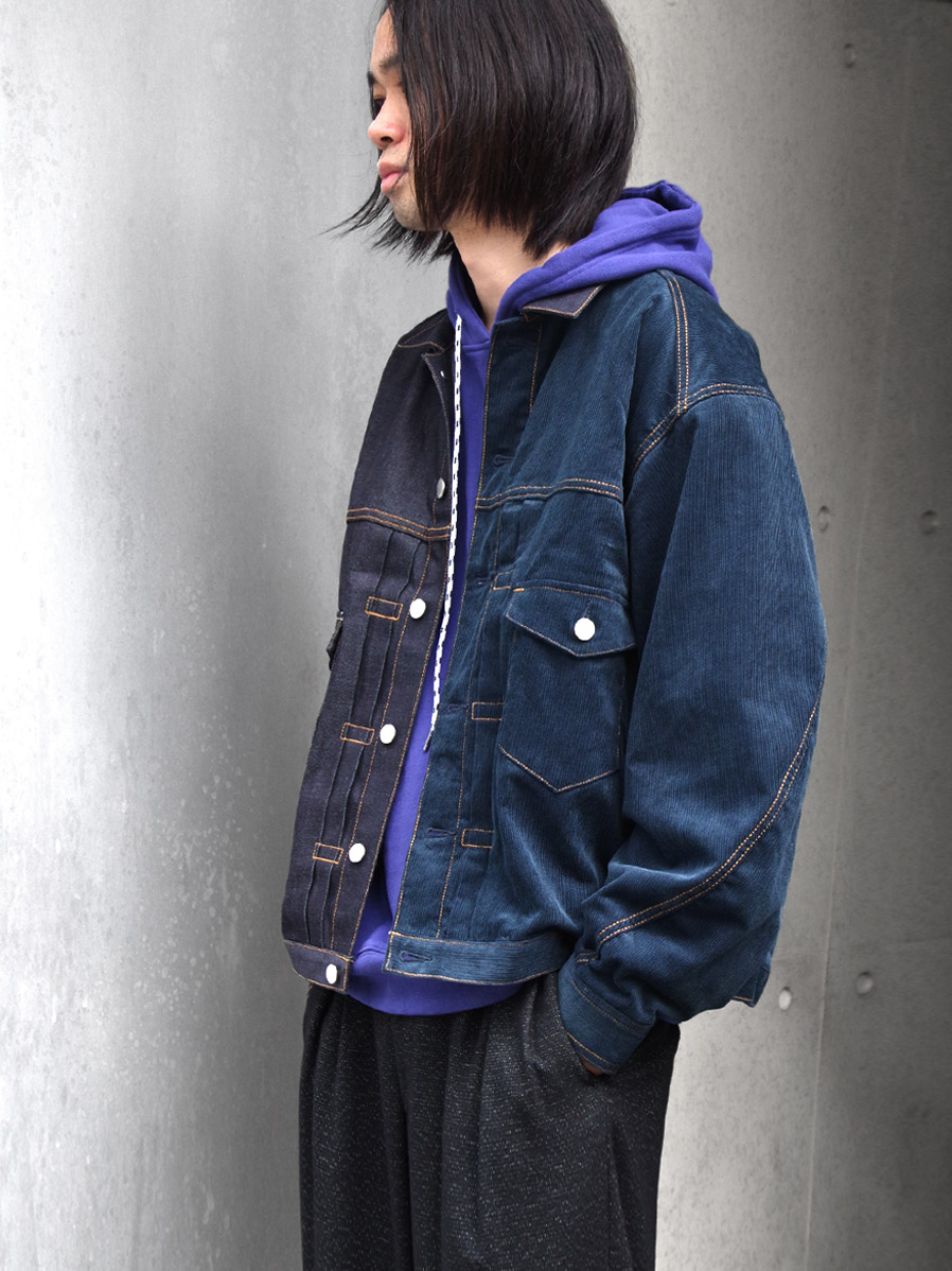 "【20AW】JieDa(ジエダ)  ""SWITCHING DENIM JACKET"" <ブルゾン> - INDIGO"