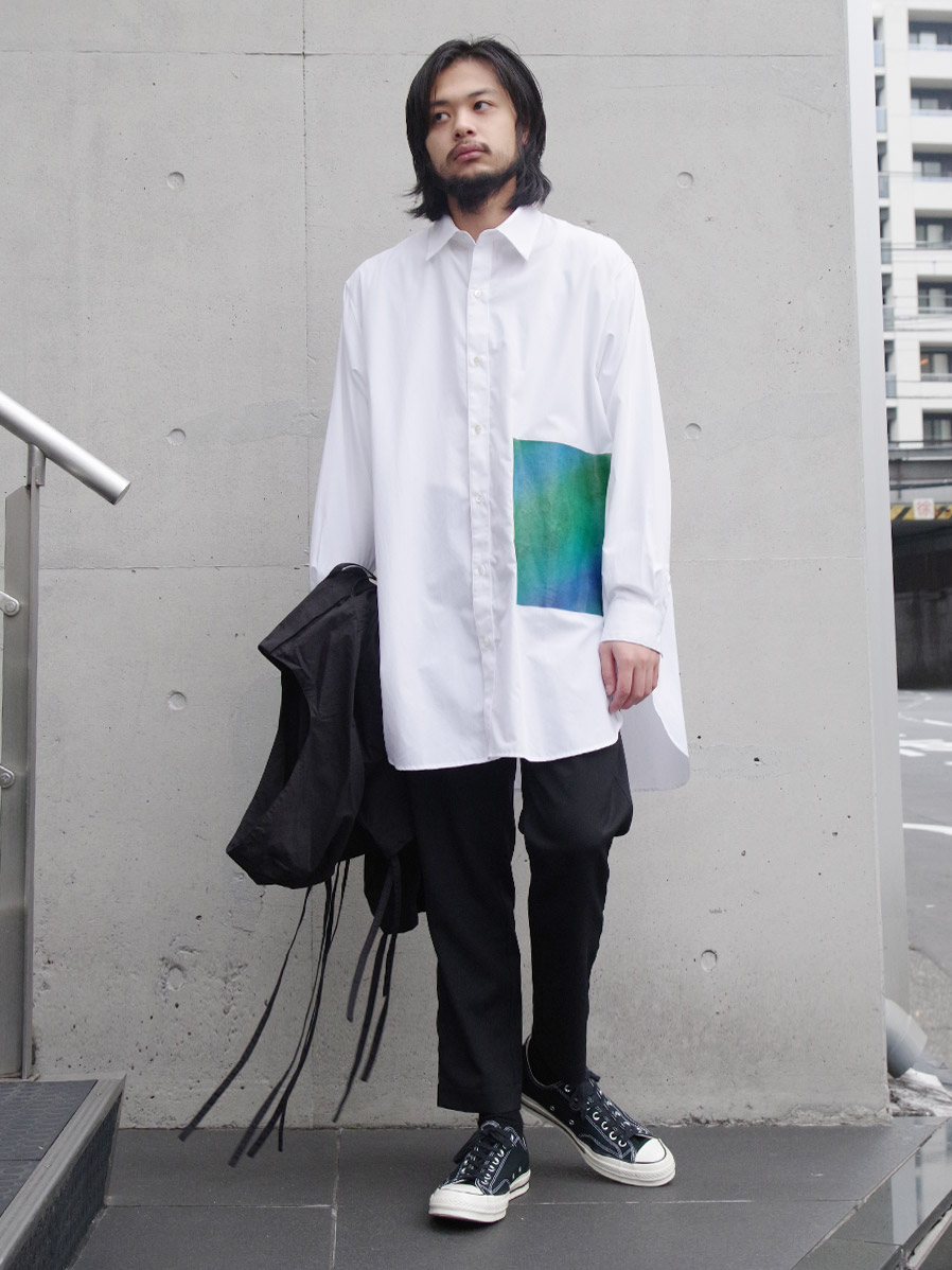 "【20SS】JieDa(ジエダ)  ""PRINTED LONG SHIRT"" <ロングシャツ>"