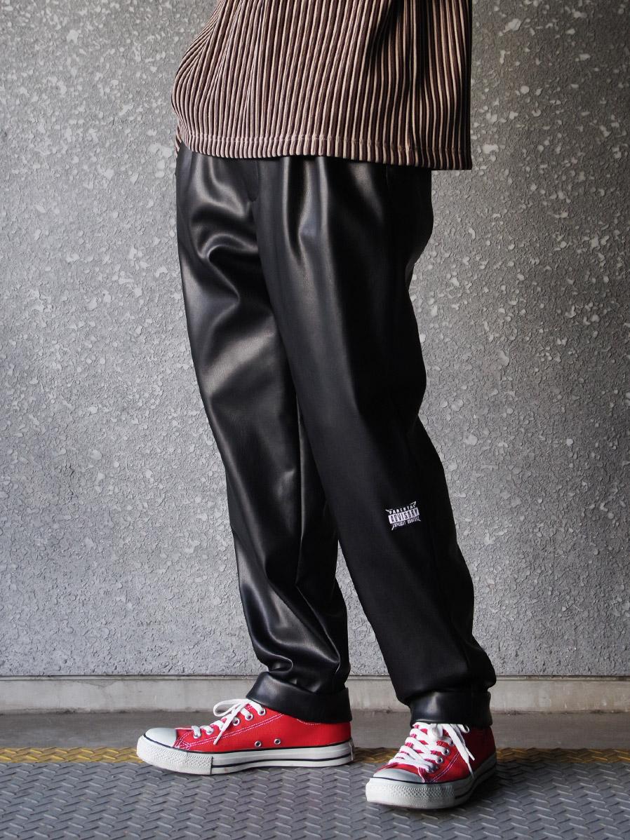 "【21SS】 JieDa (ジエダ) ""FAKE LEATHER 2TUCK TAPERED PANTS"" <パンツ>"