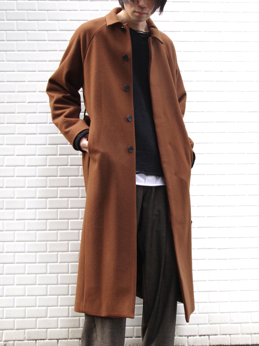 "【19AW】 JUHA (ユハ)  ""MAXI SLIT BELTED COAT"" <コート> - BROWN"
