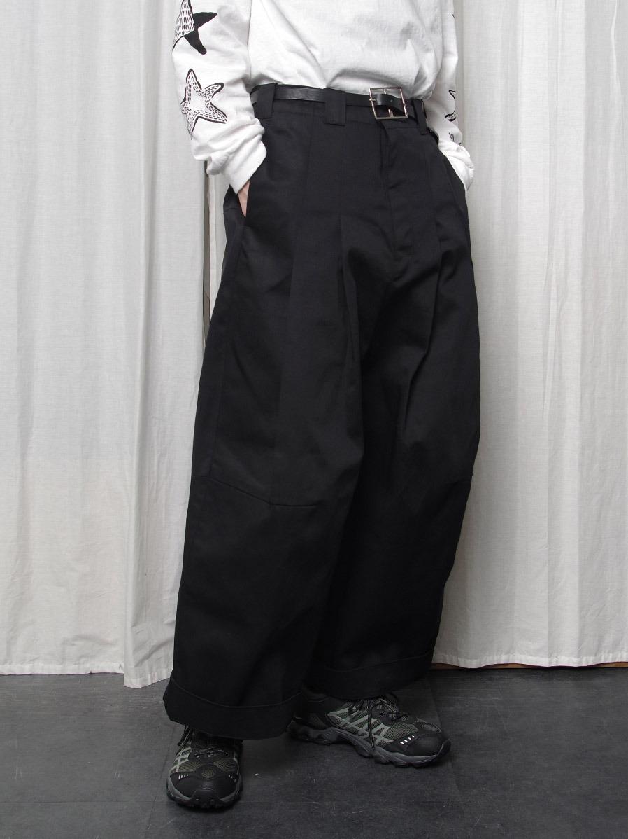 """【2020AW】 SHINYAKOZUKA (シンヤコヅカ) """"BAGGY WITH DICKIES"""" <パンツ> - BLACK"""