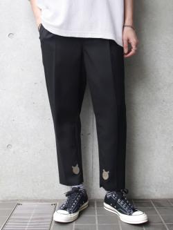 "【19SS】 BED J.W. FORD (ベッドフォード) ""Basic pants"" <スラックス> - BLACK"