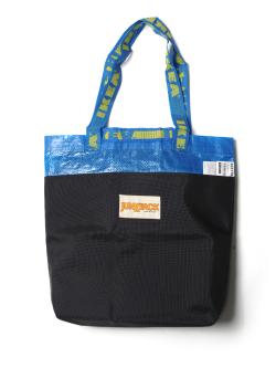 """【予約商品】GILET (ジレ) JUNKPACK """"IKEA REMAKE BLUEPACK small"""" <トートバッグ>"""