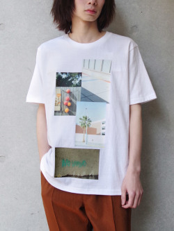 """【19SS】 soe (ソーイ)  """"H/S Crew Neck-T Photography by KENTO MORI"""" <Tシャツ/カットソー>"""