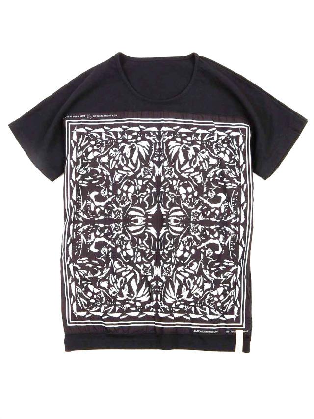 "【21SS】 AlexanderLeeChang | ""BANDANA T 21"" <Tシャツ/カットソー> - BLACK"