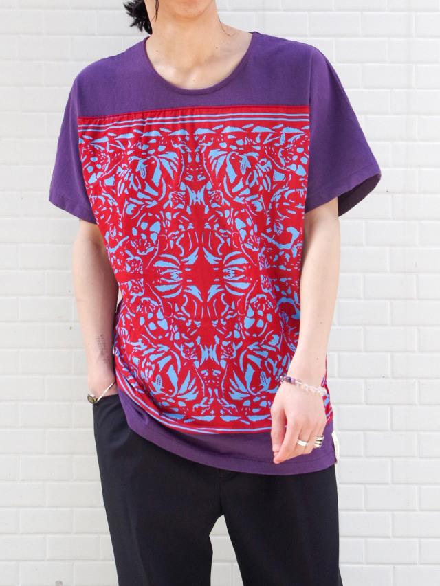 "【21SS】 AlexanderLeeChang | ""BANDANA T 21"" <Tシャツ/カットソー> - PURPLE"