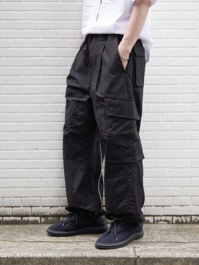 "ALMOSTBLACK ""WOVEN 6POCKET PANTS"" - BLACK"