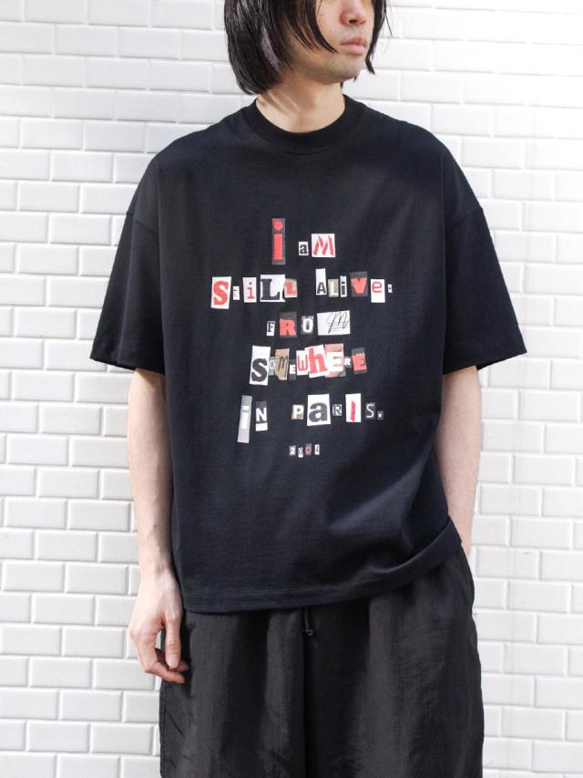 "【21SS】 ALMOSTBLACK (オールモストブラック) ""GRAPHIC TEE ""I AM STILL ALIVE"""" <Tシャツ/カットソー>"