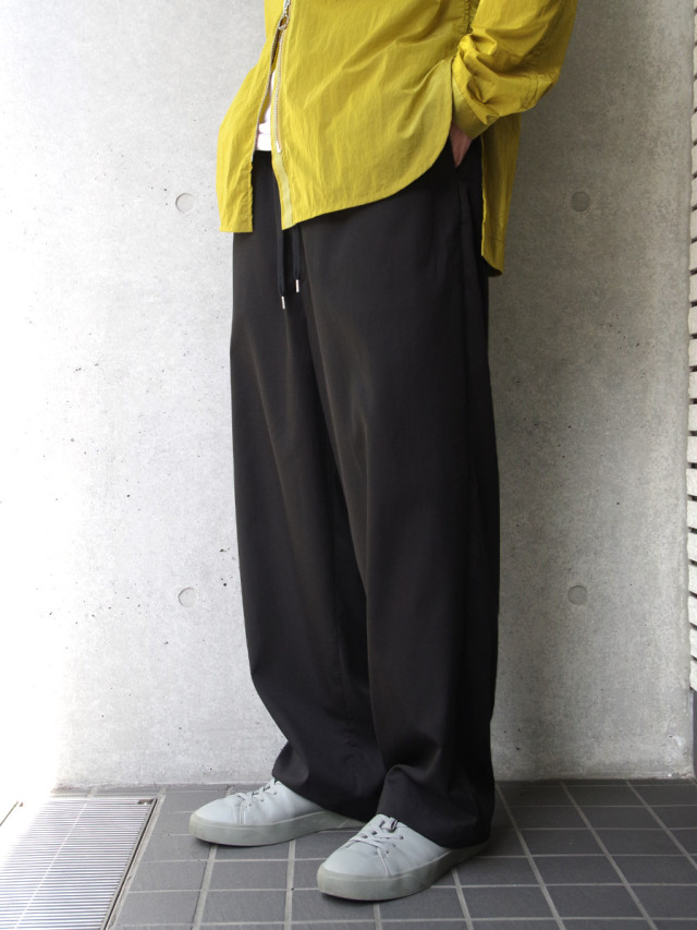 "【2020AW】 ANEI (アーネイ)  ""ISLE PANTS"" <ワイドパンツ> - BLACK"