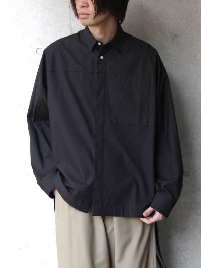 """【2020SS】 ANEI (アーネイ)  """"ACTIVE SHIRT """"A"""""""" <シャツ> - BLACK"""