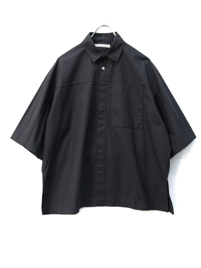 """【2020SS】 ANEI (アーネイ)  """"ACTIVE SHIRT """"A"""" H.S."""" <シャツ> - BLACK"""