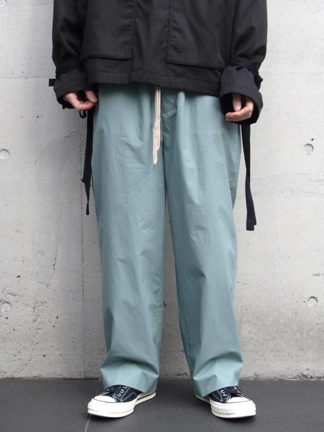 """ANEI (アーネイ)  """"ISLE PANTS"""" <ワイドパンツ> - LT.PETROL(ブルー系)"""