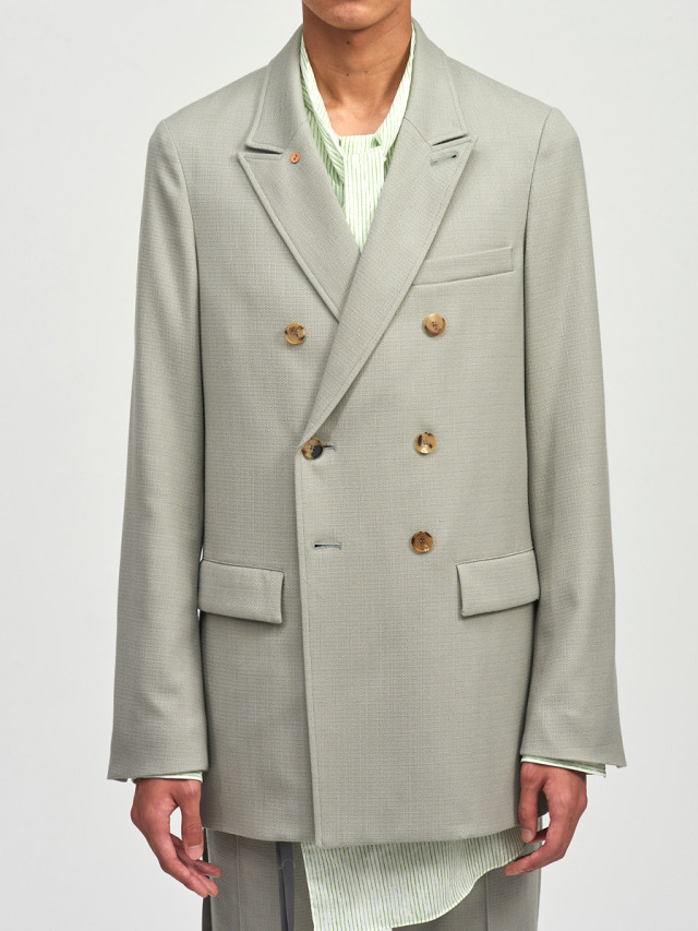 """【2021SS】 BED J.W. FORD (ベッドフォード) """"DOUBLE-BREASTED JACKET"""" <ダブルジャケット> - MINT"""