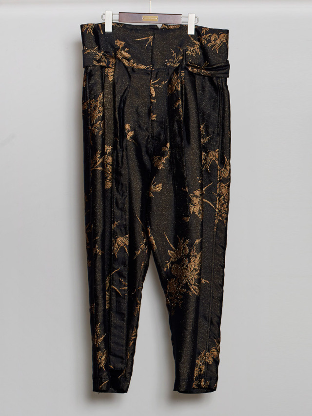 "【2020AW】 BED J.W. FORD (ベッドフォード) ""Jacquard High Waist Pants"" <パンツ>"