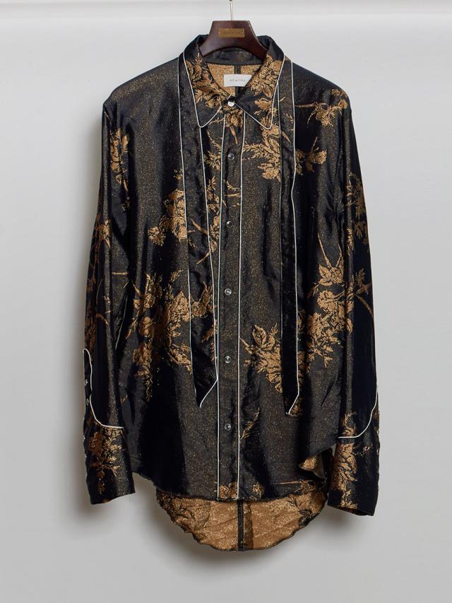 "【2020AW】 BED J.W. FORD (ベッドフォード) ""Jacquard Western Shirt"" <シャツ> - BLK×GLD"