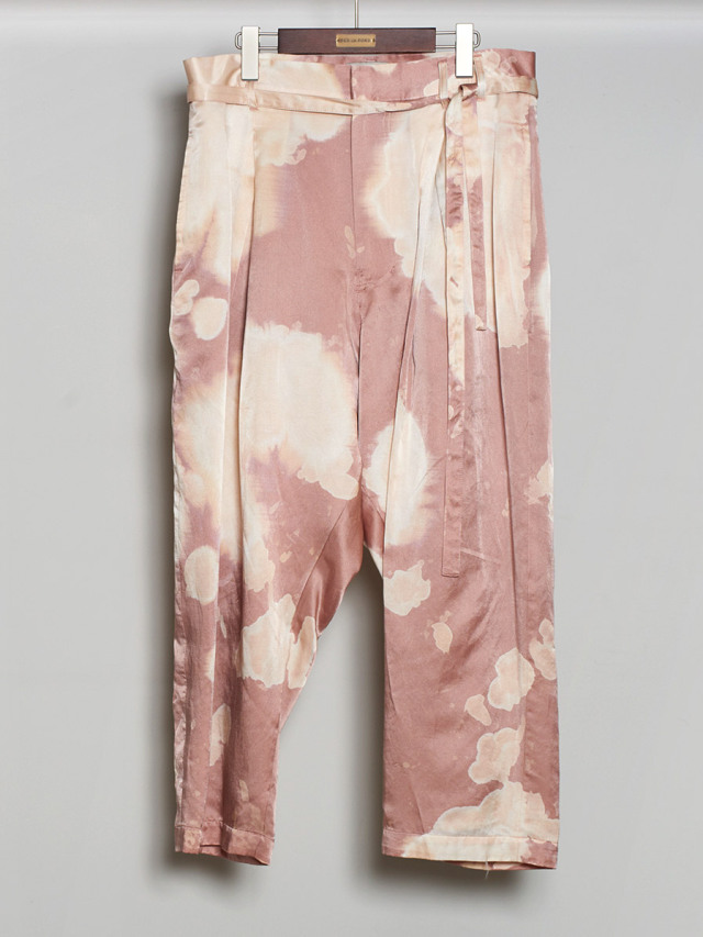 """【2020AW】 BED J.W. FORD (ベッドフォード) """"Bleached Silk Cropped Pants"""" <パンツ>"""