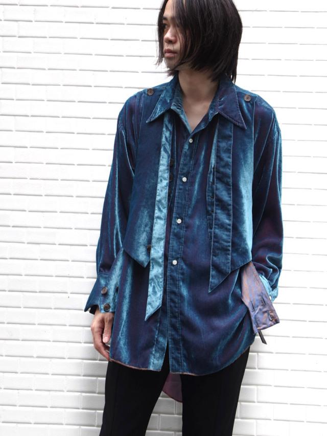 """【2020AW】 BED J.W. FORD (ベッドフォード) """"Velvet Vest Shirt"""" <シャツ>"""