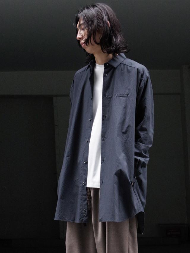 """Dulcamara """"21AW ヨークスリーブシャツ-T"""" - BLACK NAVY"""