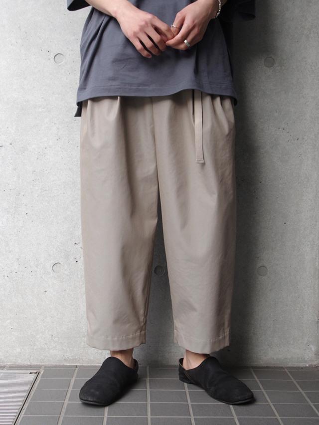 """【21SS】Dulcamara (ドゥルカマラ) """"21SS チノチノタックワイドPT"""" - BEIGE"""
