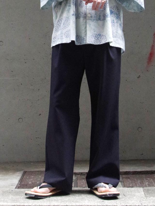 "dauerbrenner by Edwina Horl  (エドウィナホール) // ""GLOCKENHOSE"" <ZEITLOS> <フレアパンツ> - NAVY"