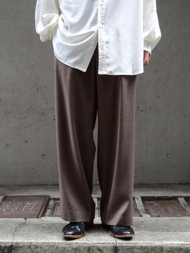 "dauerbrenner by Edwina Horl // ""BUNDFALTENHOSE WIDE PANTS"" - MOCHA"