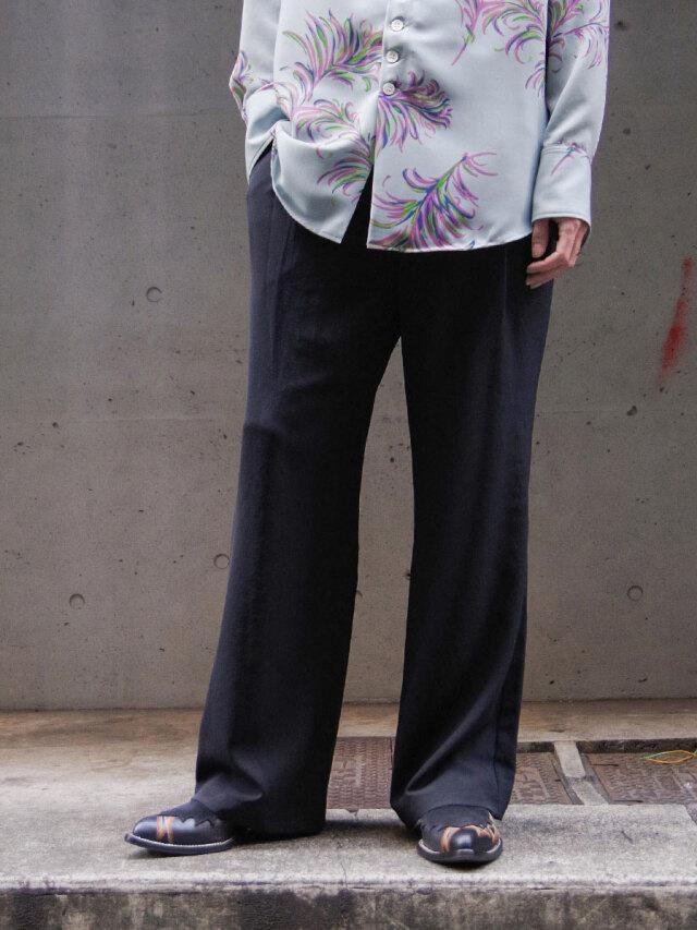 "dauerbrenner by Edwina Horl  (エドウィナホール) // ""GLOCKENHOSE"" <ZEITLOS> <フレアパンツ> - BLACK"