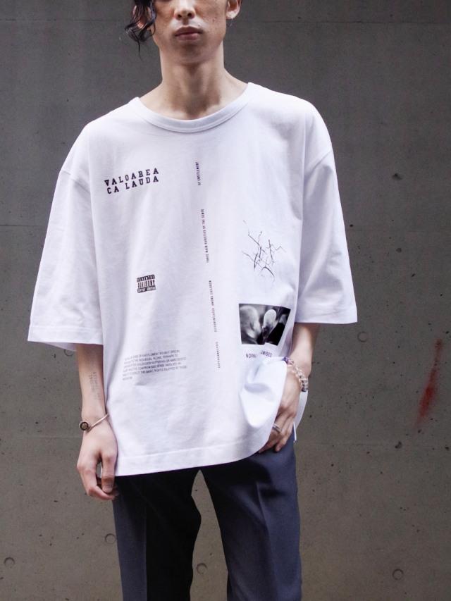 "JieDa(ジエダ)  ""RANDOM TEE"" <Tシャツ カットソー> - WHITE"