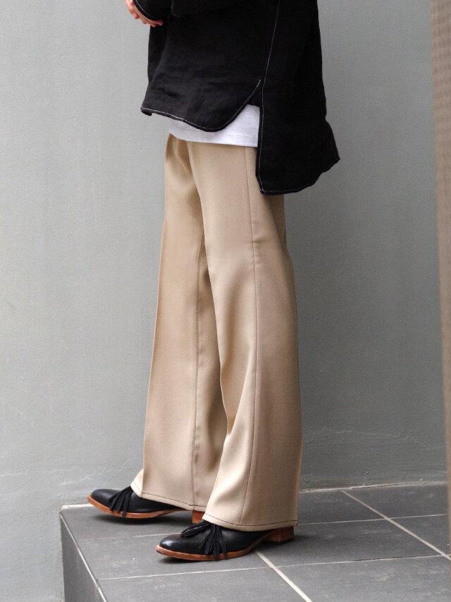 "【21SS】 JieDa(ジエダ)  ""FLARE PANTS"" <フレアパンツ> - BEIGE"