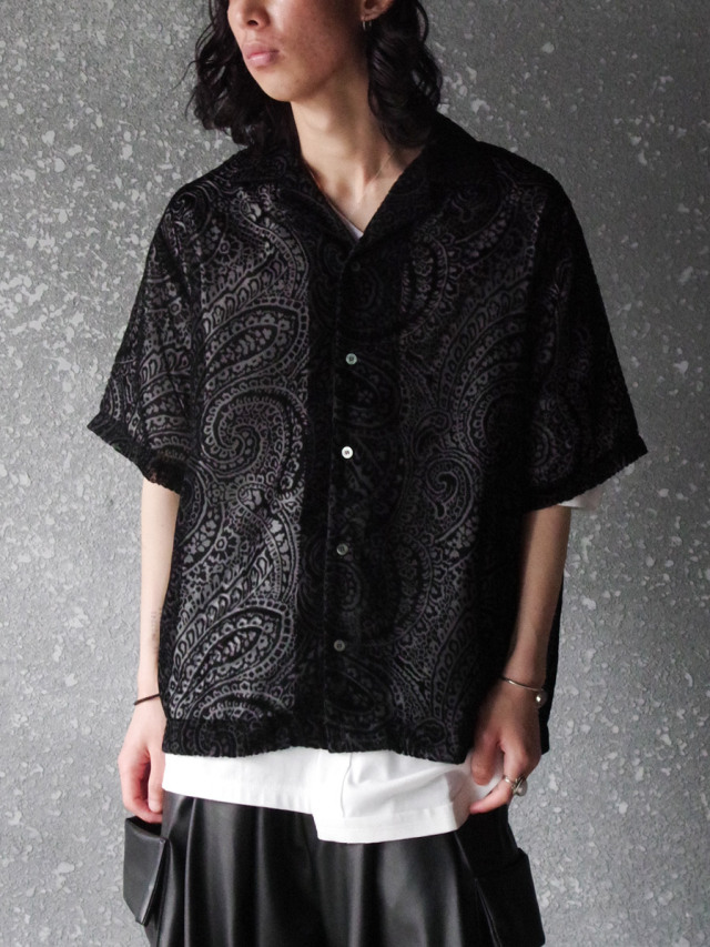 "JieDa(ジエダ)  ""OPAL OPEN COLLAR SHIRT SS"" <オープンカラーシャツ>"
