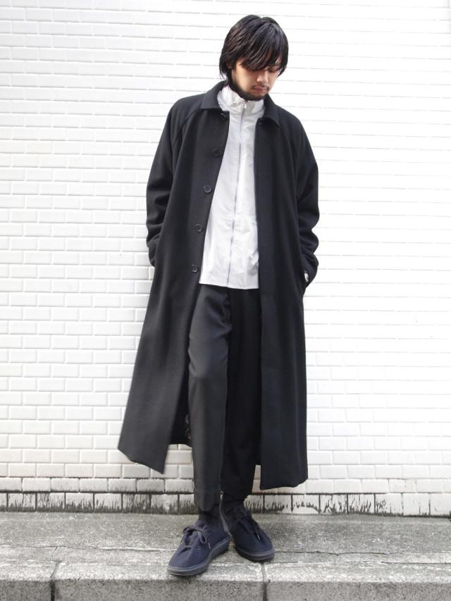 "【19AW】 JUHA (ユハ)  ""MAXI SLIT BELTED COAT"" <コート> - BLACK"
