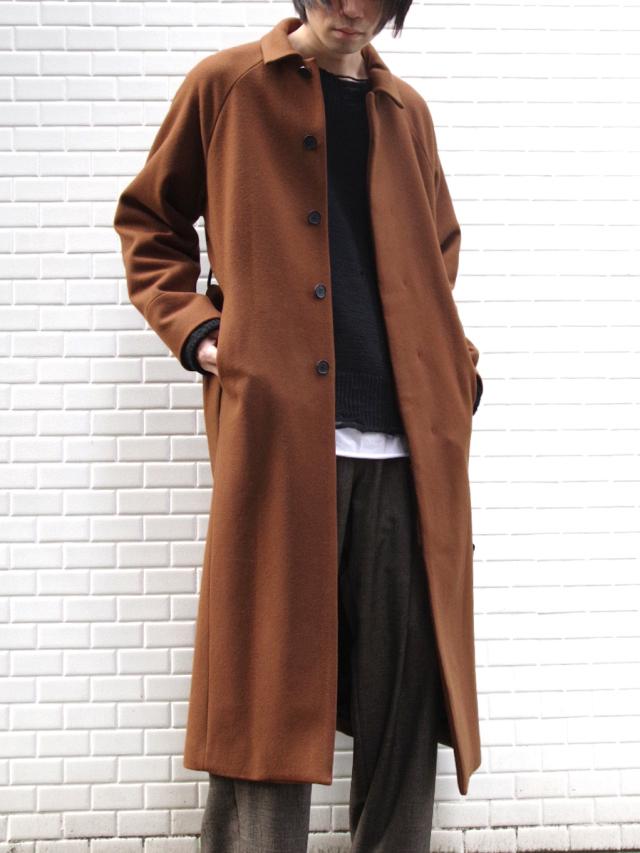 "【19AW】 JUHA (ユハ)  ""MAXI SLIT BELTED COAT"" <コート> - BROWN"