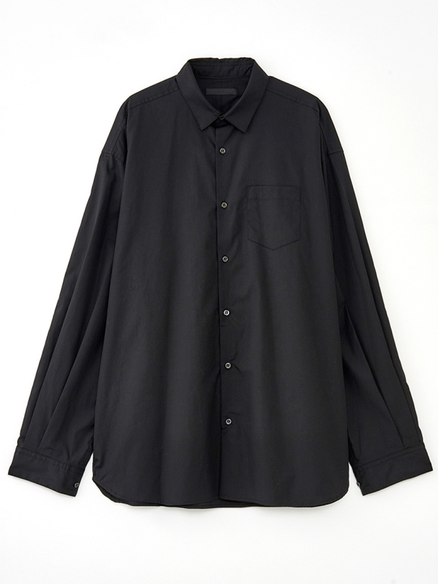 """【19AW】 JUHA (ユハ)  """"OVER SHIRT"""" <ワイドシャツ> - BLACK"""