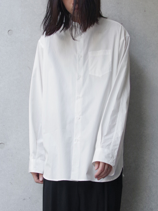"【19AW】 JUHA (ユハ)  ""OVER SHIRT"" <ワイドシャツ> - WHITE"