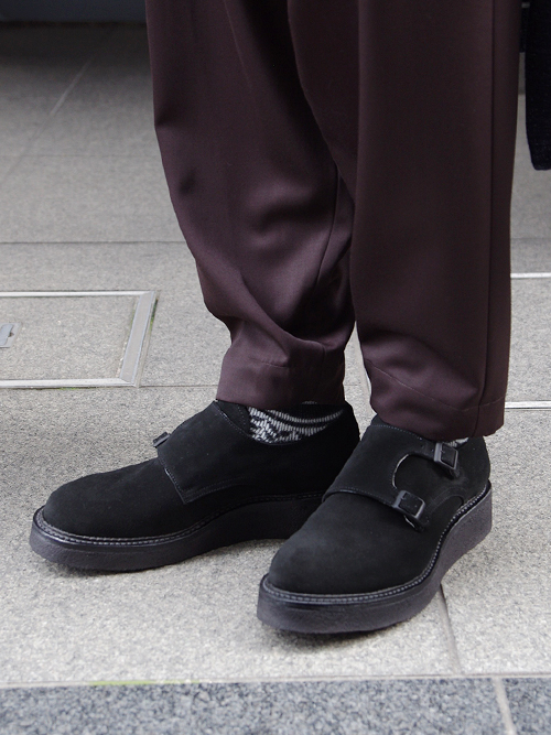 """KIDS LOVE GAITE 【キッズラブゲイト】 """"DOUBLE MONK SHOES"""" <ダブルモンクシューズ> KLGM-17AW0905 - BLACK SUEDE(スエード)"""