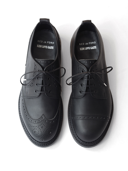 """KIDS LOVE GAITE × BED J.W. FORD """"ASYMMETRY BROGUE SHOES with GUIDI LEATHER"""" <レザーシューズ>"""