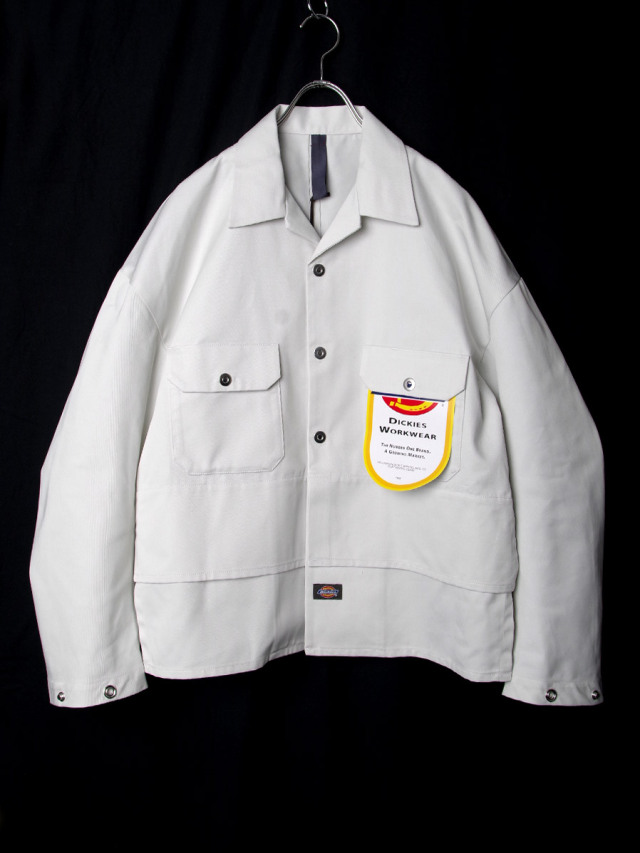 """【2020AW】 SHINYAKOZUKA (シンヤコズカ) """"TACKED-IN WITH DICKIES"""" <シャツ / ブルゾン> - SNOW"""