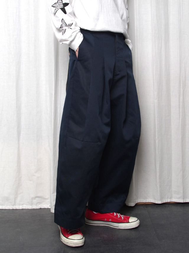 """【2020AW】 SHINYAKOZUKA (シンヤコヅカ) """"BAGGY WITH DICKIES"""" <パンツ> - MIDNIGHT"""