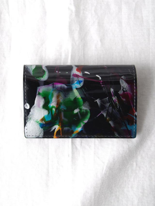 """macromauro (マクロマウロ) // """"PAINT CARD CASE"""" <カードケース> - BLACK-""""A"""""""