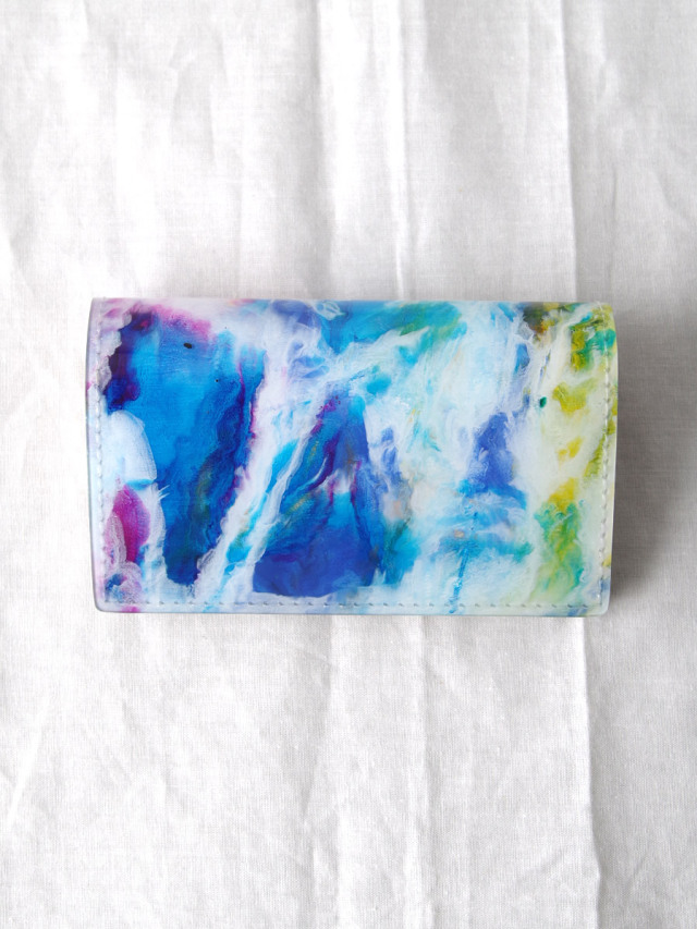 "macromauro (マクロマウロ) // ""PAINT CARD CASE"" <カードケース> - WHITE-""C"""