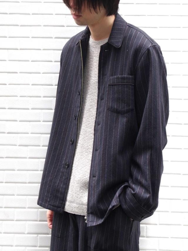 "【19AW】 MASU (マス/エムエーエスユー) ""ZIP-UP PAJAMA SHIRTS"" <シャツ>"