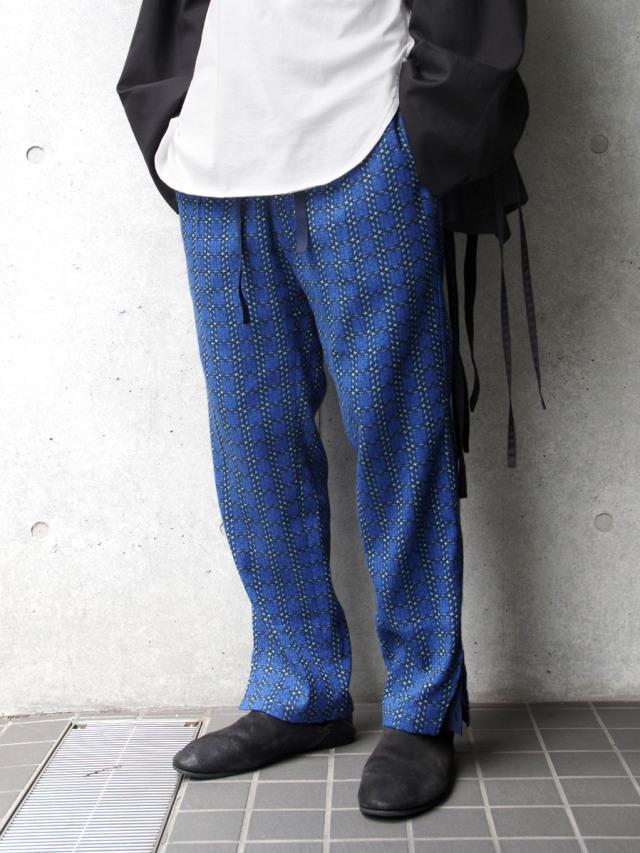 """【2020AW】 MASU (マス/エムエーエスユー) """"JACQUARD CHECK PANTS"""" <パンツ>"""