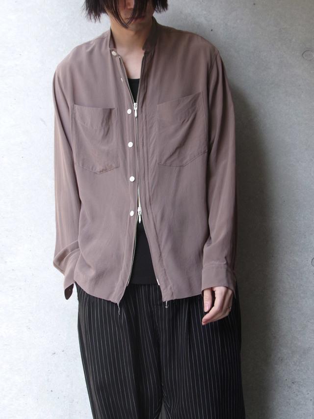 "【2020SS】 MASU (マス/エムエーエスユー) ""ZIP-UP SILK SHIRTS"" <シャツ>"