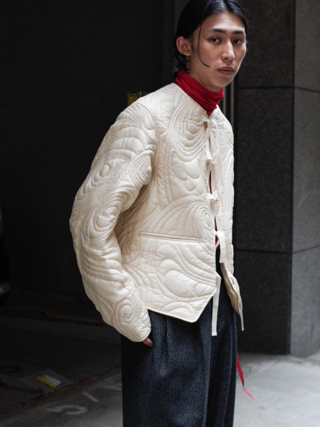 """MASU """"PSYCHEDELIC QUILTING BLOUSON"""" - CHAMPAGNE"""