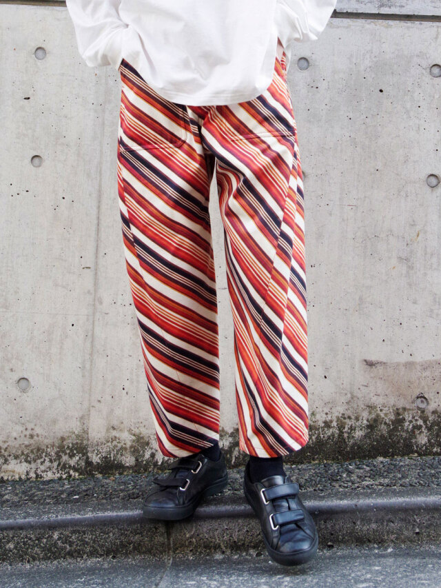 """【2021SS】 MASU (マス/エムエーエスユー) """"VASE PATTERN WORK PANTS"""" <パンツ> - FADED ORANGE"""