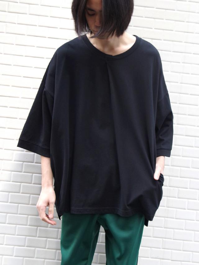 "【2021 HIGH SUMMER】 my beautiful landlet (マイビューティフルランドレット)  ""cotton BIG T-shirt"" <カットソー> - BLACK"